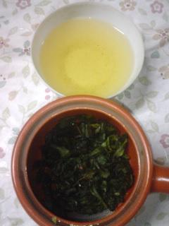 挿し木ちゃんで釜炒り茶と烏龍茶作り②